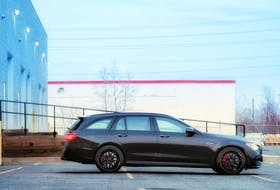 The Mercedes-Benz E63 wagon is a totally sensible all-weather family hauler that just happens to have a rocket thruster stuffed under the hood. Justin Pritchard/Postmedia News