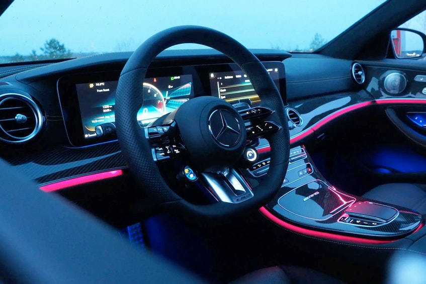 Driving the E63 in the evening lets you see some of its very best design work. Justin Pritchard/Postmedia News - POSTMEDIA