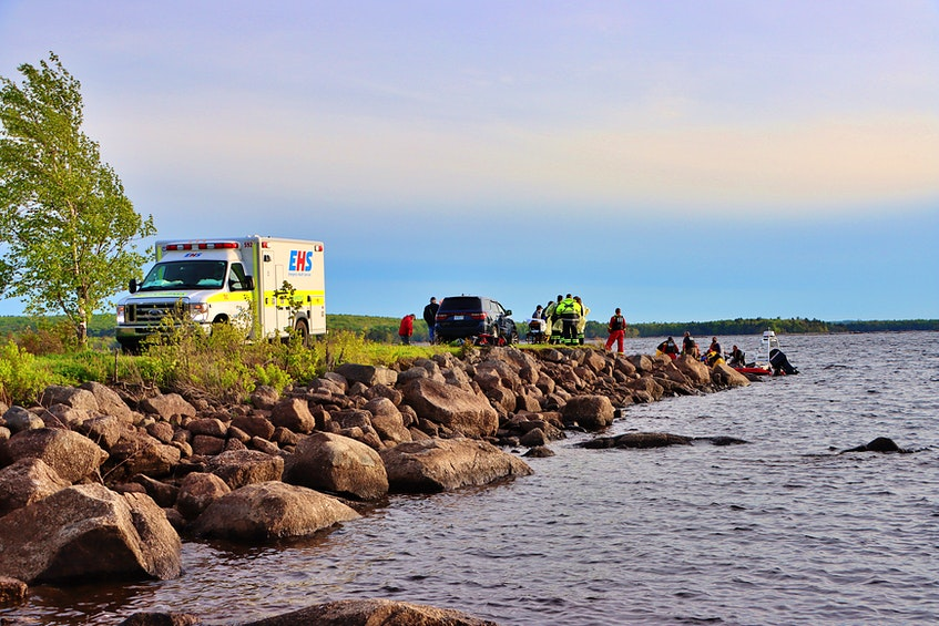 Rescuers followed the sounds of calls for help to find the boaters in distress. – Adrian Johnstone - Contributed