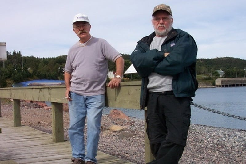 Gerry Schwarz (left) and Ken Haire were together for 33 years before Schwarz died in 2012 due to heart failure. - Contributed