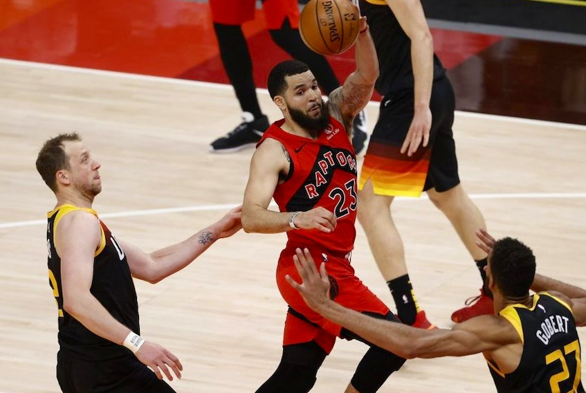 Raptors guard Fred VanVleet, who was impressive in the loss in Utah on Saturday night before sitting out Sunday to avoid doing further damage to a weakened hip, admits a clear goal for these final games is hard to pin down.USA TODAY Sports