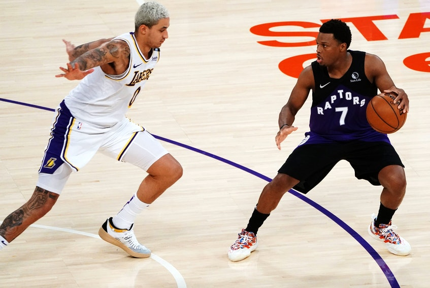Toronto Raptors guard Kyle Lowry was great against the Los Angeles Lakers on Sunday.