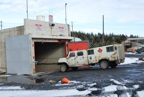 A mine vehicle heads into the Kameron Coal-owned Donkin Mine in this file photo. Cape Breton Post