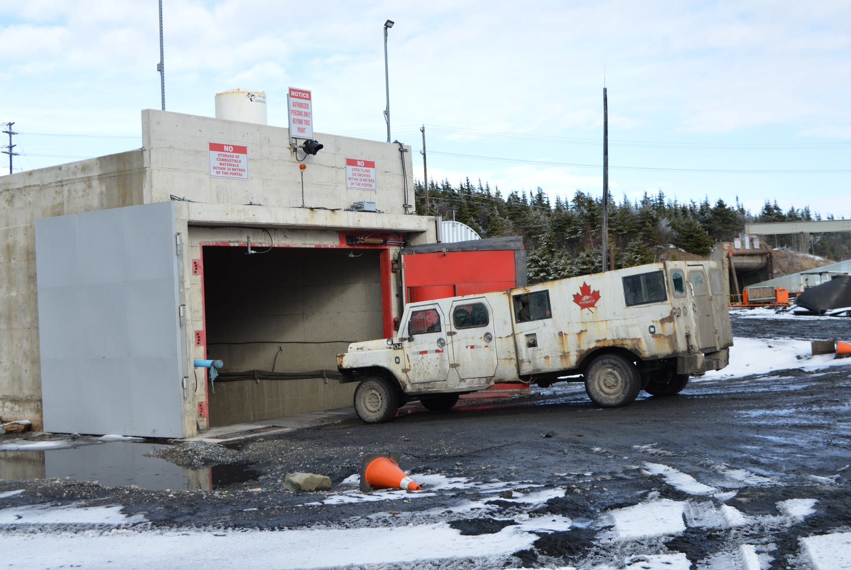 A mine vehicle heads into the Kameron Coal-owned Donkin Mine in this file photo. Nova Scotia political parties aim to end the use of coal in power production to reduce carbon emissions. - Sharon Montgomery