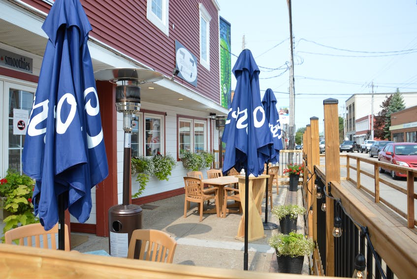 The 7 by 7 Restaurant in downtown Sydney will be serving customers on its Charlotte Street patio deck on Wednesday. CAPE BRETON POST FILE