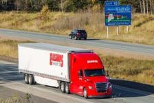 """Since March 2020, chief executive officer Trevor Bent says there have only been 18 positive cases of COVID within Eassons Transport Group, a company of over 500 employees, which delivers goods across Canada and through the United States from their terminals in Atlantic Canada and Ontario. He's appreciative of the """"overwhelming support"""" shown to drivers by the community."""