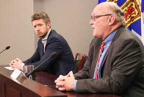 Premier Iain Rankin and Dr. Robert Strang, Nova Scotia's chief medical officer of health, reported that two people had died from COVID-19 at a news briefing on Tuesday.