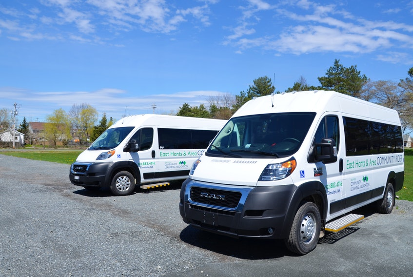 East Hants and Area Community Rider vans sit at the ready at the family resource centre in Elmsdale on Tuesday, May 4, 2021.