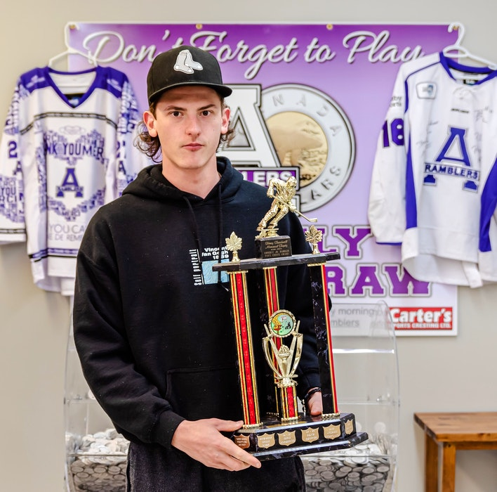 Griffen Fox was named the Amherst CIBC Wood Gundy Ramblers Fans Choice Award winner for the 2020-21 season. Paul Morrison Photography - Contributed