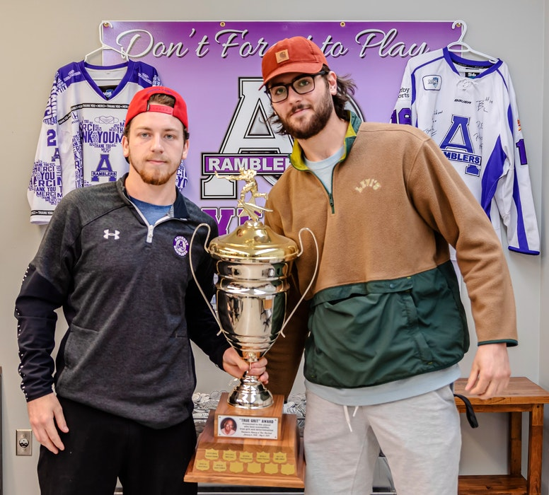 Jason Gallant (left) and Marko Jackovljevic of the Amherst CIBC Wood Gundy Ramblers shared the Ron MacLeod Memorial Award for True Grit and Determination. Paul Morrison Photography - Contributed