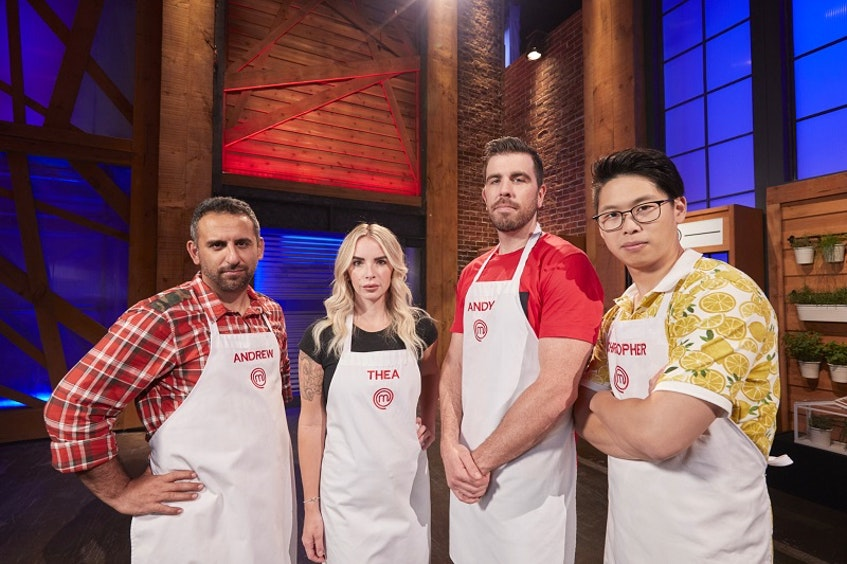 And then there were four ... Nova Scotia's MasterChef Canada: Back to Win competitors Andrew Al-Khouri and Andy Hay head into the penultimate episode with Thea Vanherwaarden and Christopher Siu on Sunday, May 9 on CTV. - Bell  Media