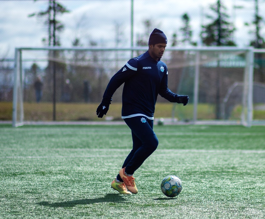 Eriks Santos of Brazil practises in the cold at the HFX Wanderers training camp last month at the Soccer Nova Scotia facility in Clayton Park. - Dylan Lawrence / HFX Wanderers
