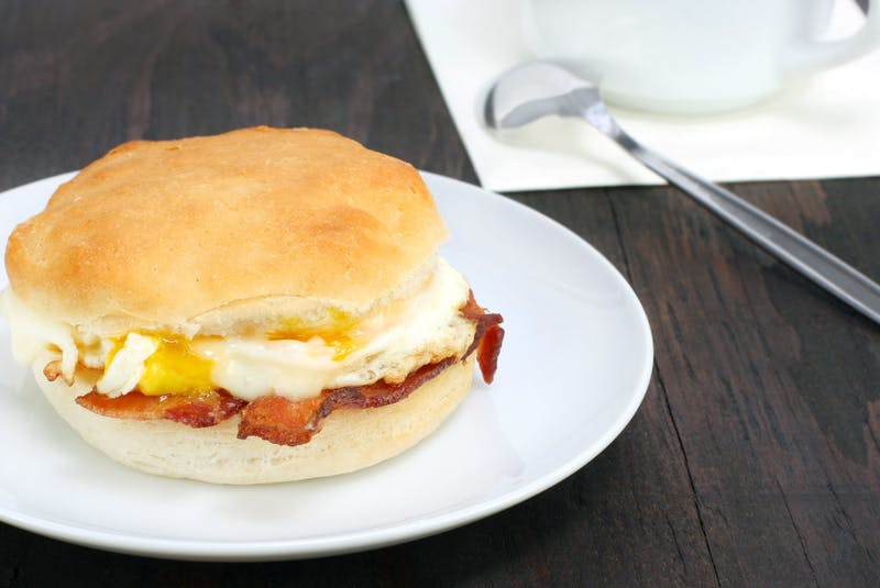 From biscuits to English muffins, bagels to croissants, there are endless possibilities when choosing the bread to make a breakfast sandwich. There are just as many options when it comes to how to prepare your eggs. - RF Stock