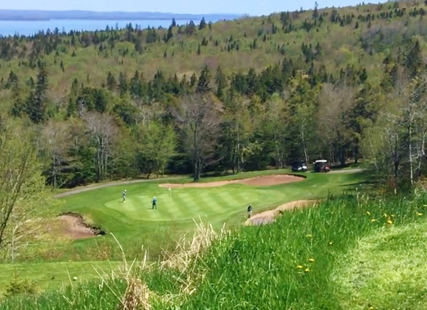 The 18-hole championship course at the Dundee Resort and Golf Club is perched on hilly terrain that offers many spectacular views of the West Bay portion of the Bras d'Or Lake. DAVID JALA/CAPE BRETON POST - David Jala