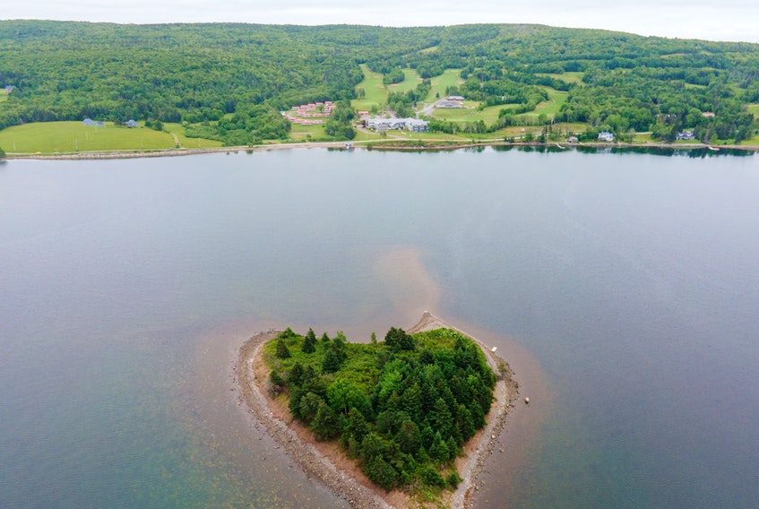 This aerial photograph shows the Dundee Resort and Golf Club that overlooks the Bras d'Or Lake's West Bay. The golf course meanders its way up the mountainous terrain and offers splendid vistas of the area. CONTRIBUTED