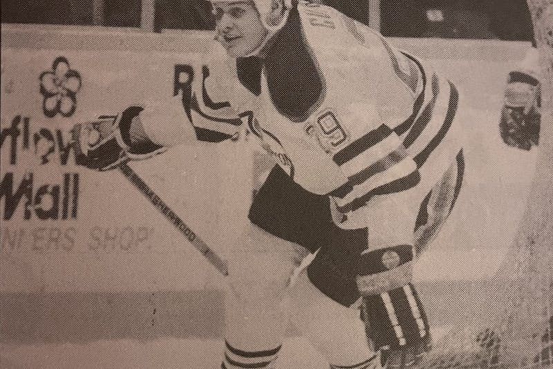 Cape Breton Oilers forward Dan Currie during an American Hockey game in 1989-90 at Centre 200 in Sydney. CONTRIBUTED - Contributed