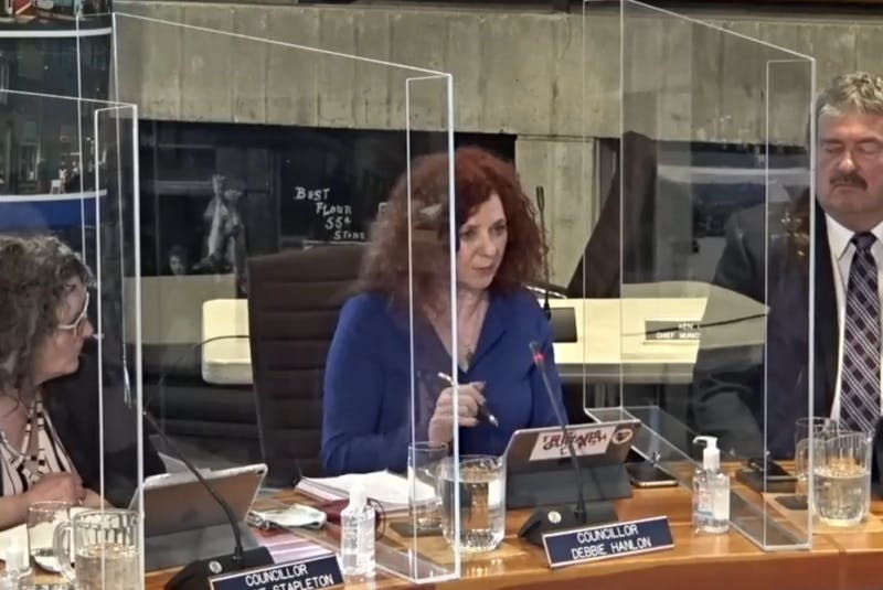 Counc. Debbie Hanlon speaks at Monday's St. John's City Council meeting Monday about the addition of four mobile vending units — two food and two non-food units — at this year's downtown pedestrian mall. - Saltwire Network
