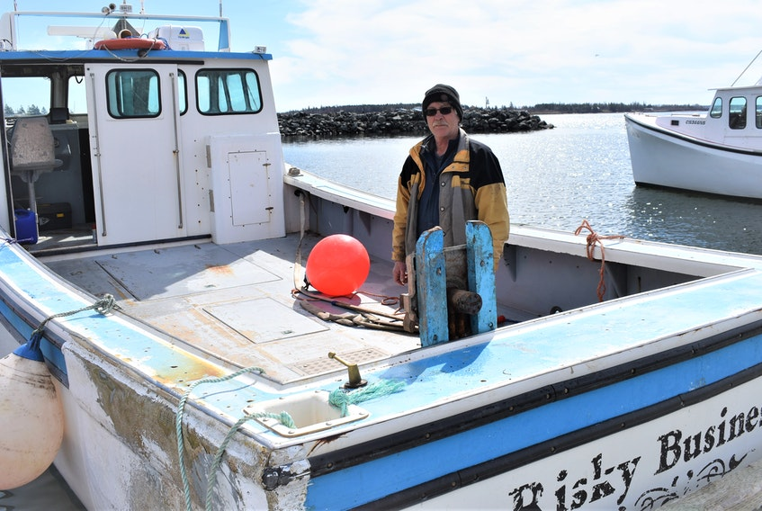 Veteran Keith Heighton and his boat Risky Business ready for another lobster season out of Cape John.