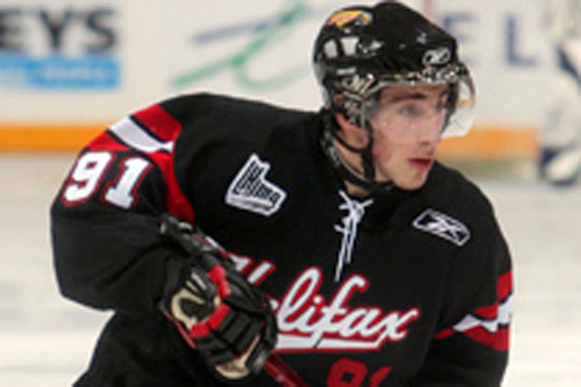 Brad Marchand with the Halifax Mooseheads in 2008. - Halifax Mooseheads