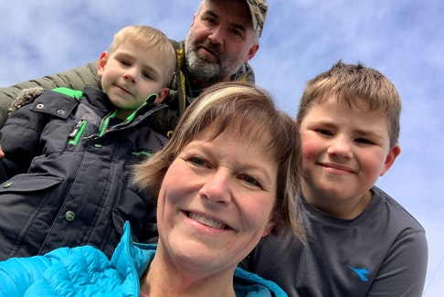 Stephanie and Rob Lowe with their two youngest children, seven-year-old Jamie and eight-year-old Kaiden. The Lowes have parented 29 children over the years through the foster parent program.