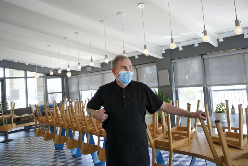 Terry Vassallo, co-owner of the Mappatura Bistro, is seen in his restaurant in Halifax on Tuesday, May 4, 2021. - Tim Krochak