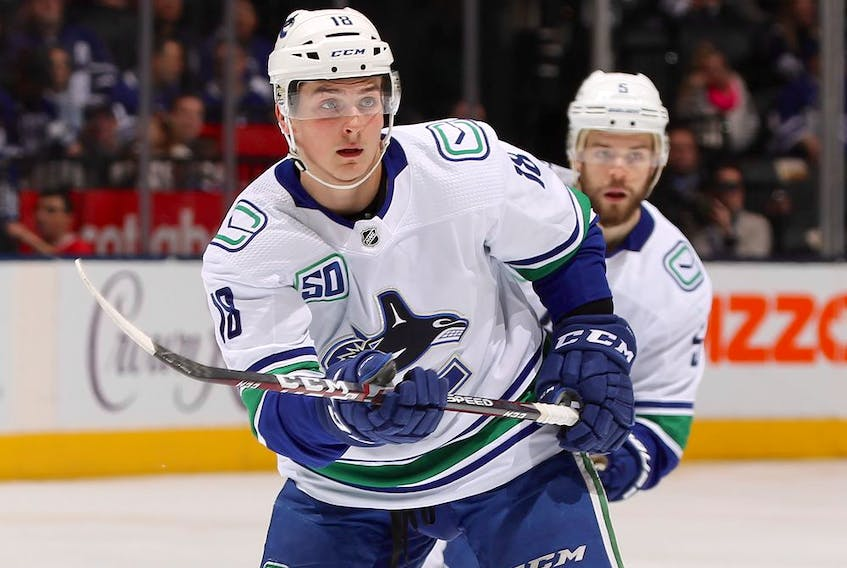 Jake Virtanen was placed on leave by the Canucks last week following allegations of sexual misconduct.