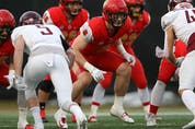 Calgary Dinos linebacker Grant McDonald was selected in the second round, 14th overall, by the Edmonton Football Club in the 2021 CFL Draft on Tuesday, May 4, 2021.Supplied / U of C Dinos Athletics
