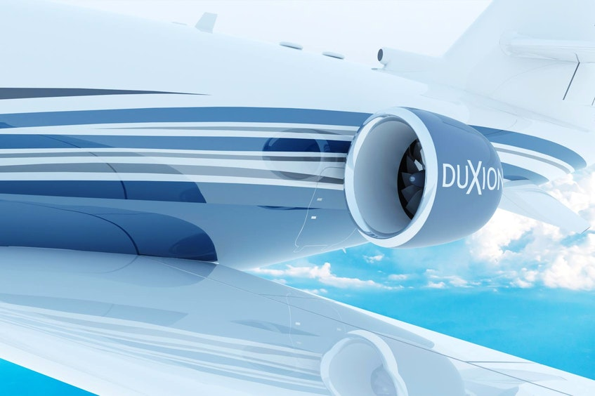 Duxion also is working on cleaner electric aircraft engines. — duxion.com