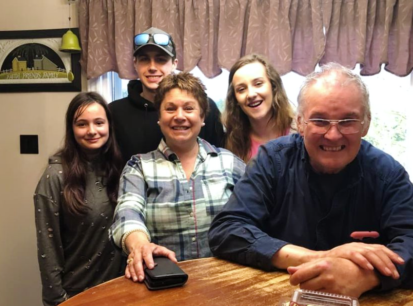 Zack Lefave with members of his family in Yarmouth. PHOTO COURTESY OF FAMILY - Contributed