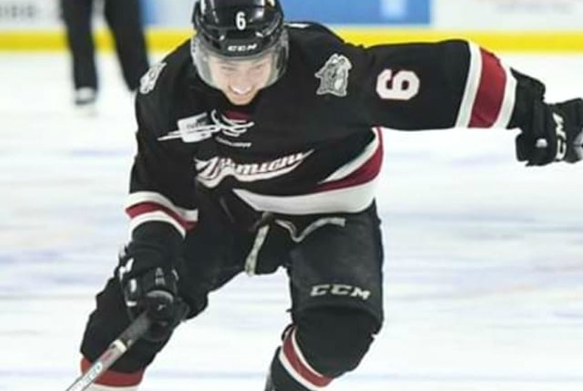 Lucas MacAulay of Cardigan, who started the season with the Miramichi Timberwolves of the Maritime Junior Hockey League (MHL), recently received a $500 grant from the Bob Boucher Hockey Assistance Fund Society for his efforts with the team, both on and off the ice.