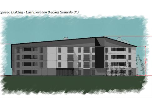 Preliminary concept art for a new public housing development in Summerside. – P.E.I. Housing Corporation image