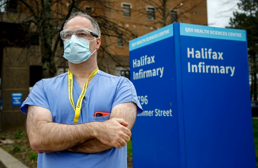 Dr. Tony O'Leary, medical director of critical care for Nova Scotia Health, is seen outside the Halifax Infirmary this spring. - Tim  Krochak