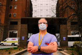 Dr. Tony O'Leary, medical director of critical care for Nova Scotia Health, is seen outside the Halifax Infirmary in Halifax Wednesday, May 5, 2021.  TIM KROCHAK PHOTO