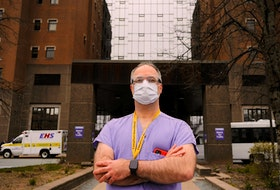 Dr. Tony O'Leary, medical director of critical care for Nova Scotia Health, is seen outside the Halifax Infirmary in Halifax Wednesday, May 5, 2021.