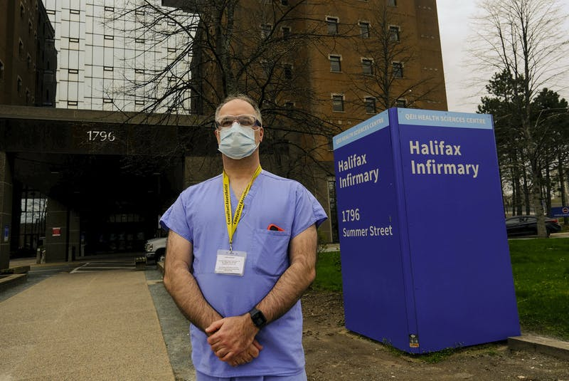 Dr. Tony O'Leary, medical director of critical care for Nova Scotia Health, is seen outside the Halifax Infirmary in Halifax Wednesday, May 5, 2021.  TIM KROCHAK PHOTO - Tim  Krochak