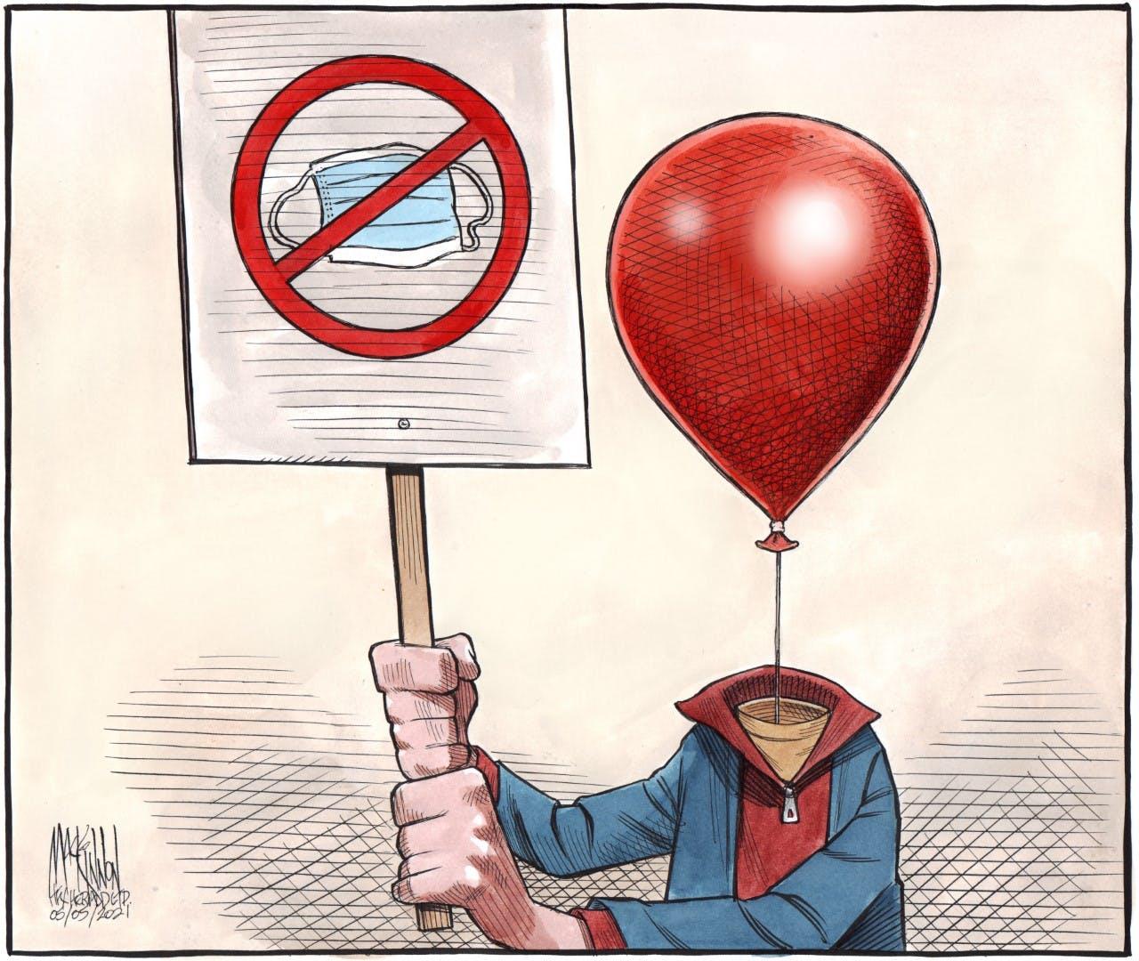 Bruce MacKinnon cartoon for May 5, 2021. Anti-maskers, COVID-19