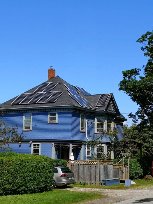 The Robertson home in Yarmouth. The owners view the solar panels they had installed as a great investment in their home. - Contributed