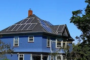 The Robertson home in Yarmouth. The owners view the solar panels they had installed as a great investment in their home.