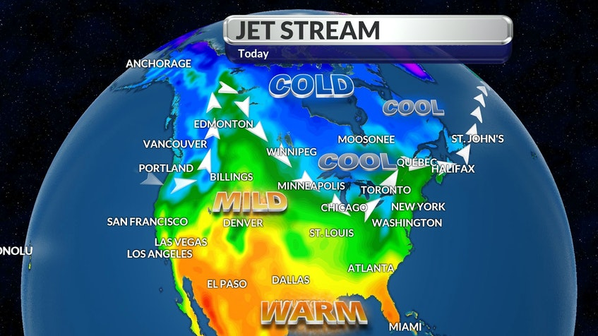 CINDY DAY: Jet stream map for May 7 - WSI - Contributed