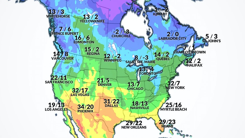 CINDY DAY: North American outlook map for May 7. - WSI - Contributed