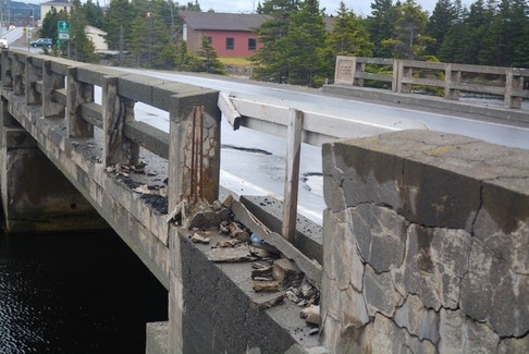 The bridge in Clarke's Beach was first built in 1966 and provides a crucial link for the town to the northern part of Conception Bay