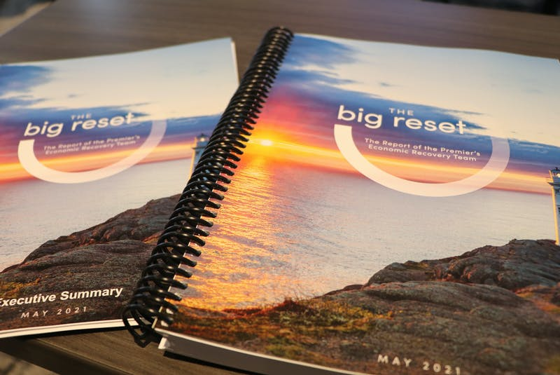 The 337-page Report of the Premier's Economic Recovery Team delivered by Dame Moya Greene Thursday contains 78 recommendations and a detailed, multi-year financial improvement plan for the province.   - Saltwire network