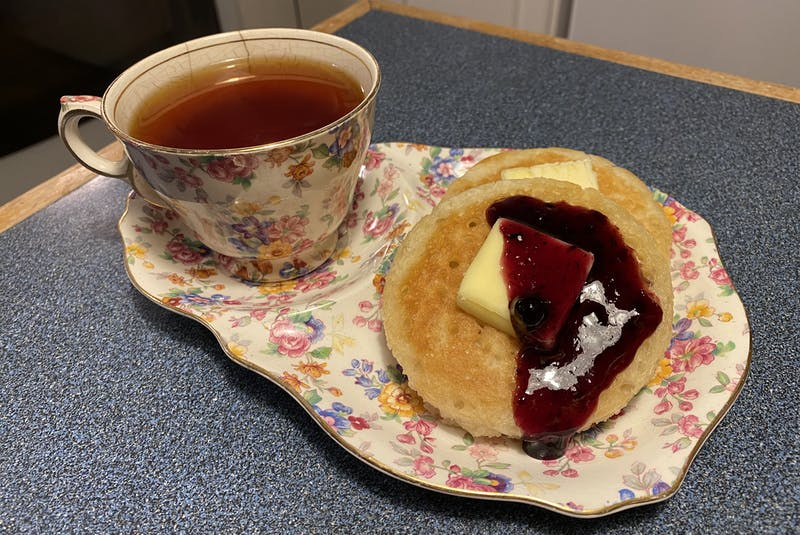 I think everyone should have their very own snack plate and tea cup set. So very English. — Erin Sulley