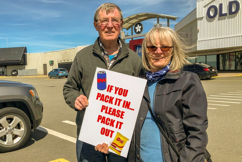 Dan Fraser, left, former president of the Isle Royale ATV Club, and Judy Giovannetti, current president, want ATV riders to think about the environment while on the trails. JESSICA SMITH/CAPE BRETON POST