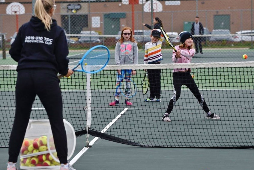 Ontario kids will not be seeing this kind of outdoor, organized tennis any time soon. ED KAISER/POSTMEDIA