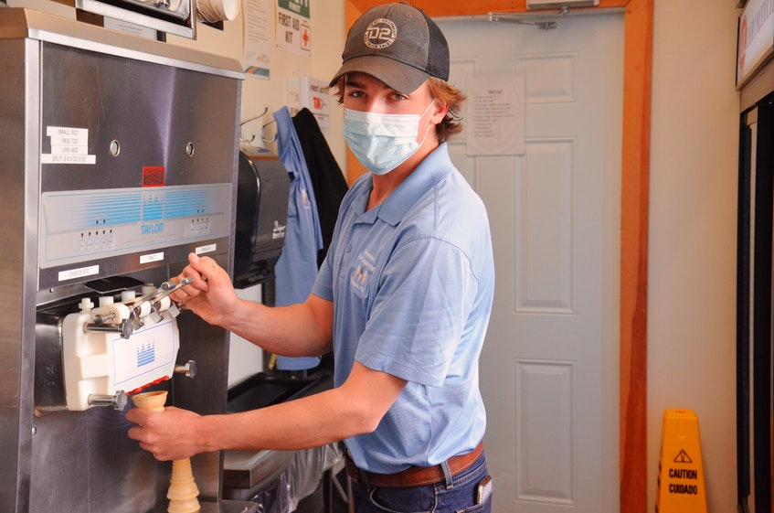 Somerset Ice Cream Bar owner Harrison Duffy won one of two open council seats in the Rural Municipality of Kinkora byelection on May 3. - Jason Simmonds • The Guardian