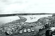 Canso Causeway Opening, 1955. - M.R. Chappell Collection, Beaton Institute, Cape Breton University.