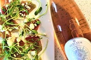 Mercator Vineyards rose makes an excellent match to beet salad according to sommelier Mark DeWolf. Photo: Mark DeWolf
