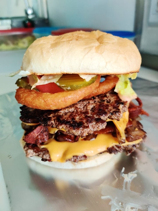 The new Valley's BFF food truck's Double Up tied for first place in Burger Wars 2021. It was the first time the New Minas-based business competed. - Contributed