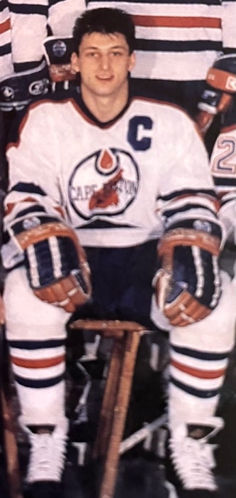 Fabian Joseph of Sydney served as the captain of the Cape Breton Oilers for two seasons from 1988 to 1990. CONTRIBUTED - Contributed